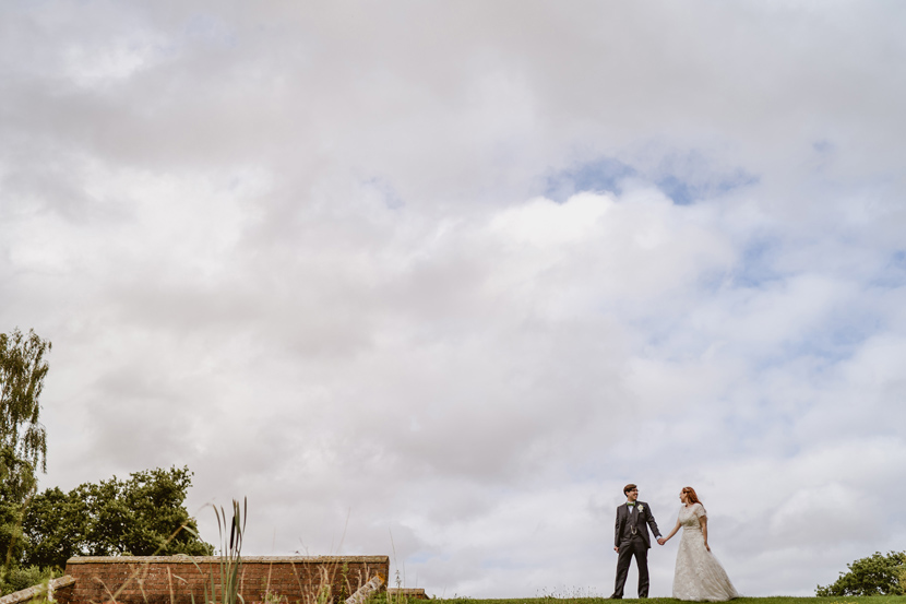 Bride and groom by Sam and Louise Lincolnshire wedding photographers